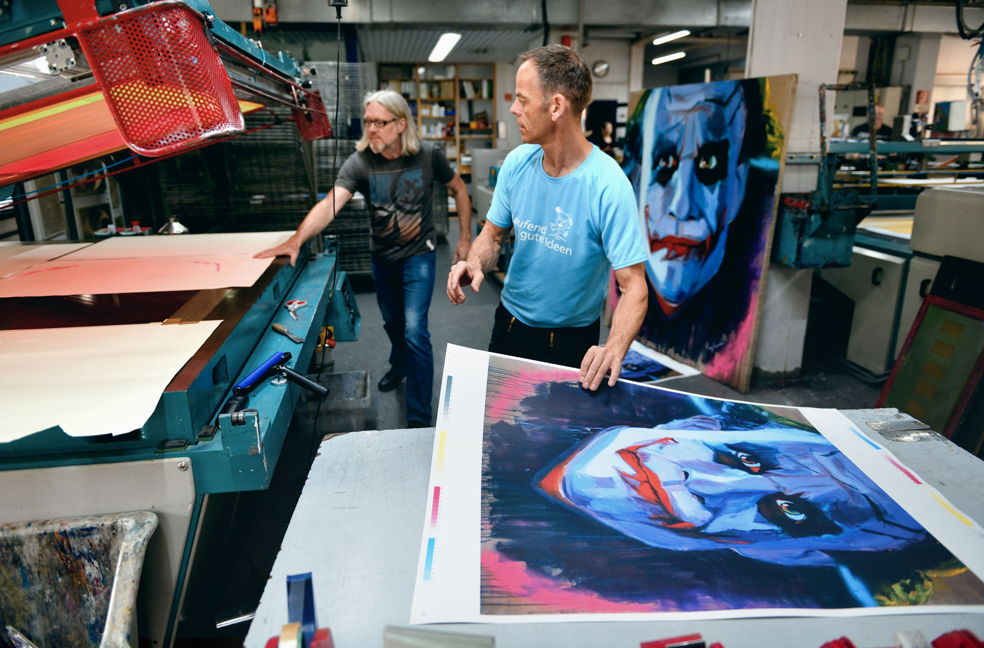 "2017 - Producing first limited silk print of the ""Joker"" with ""Klenke"""