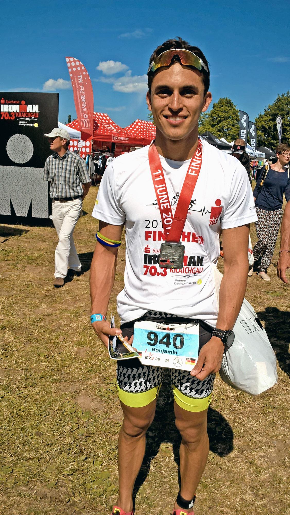 2017 - #10 Agegroup finish Ironman 70.3 Kraichgau