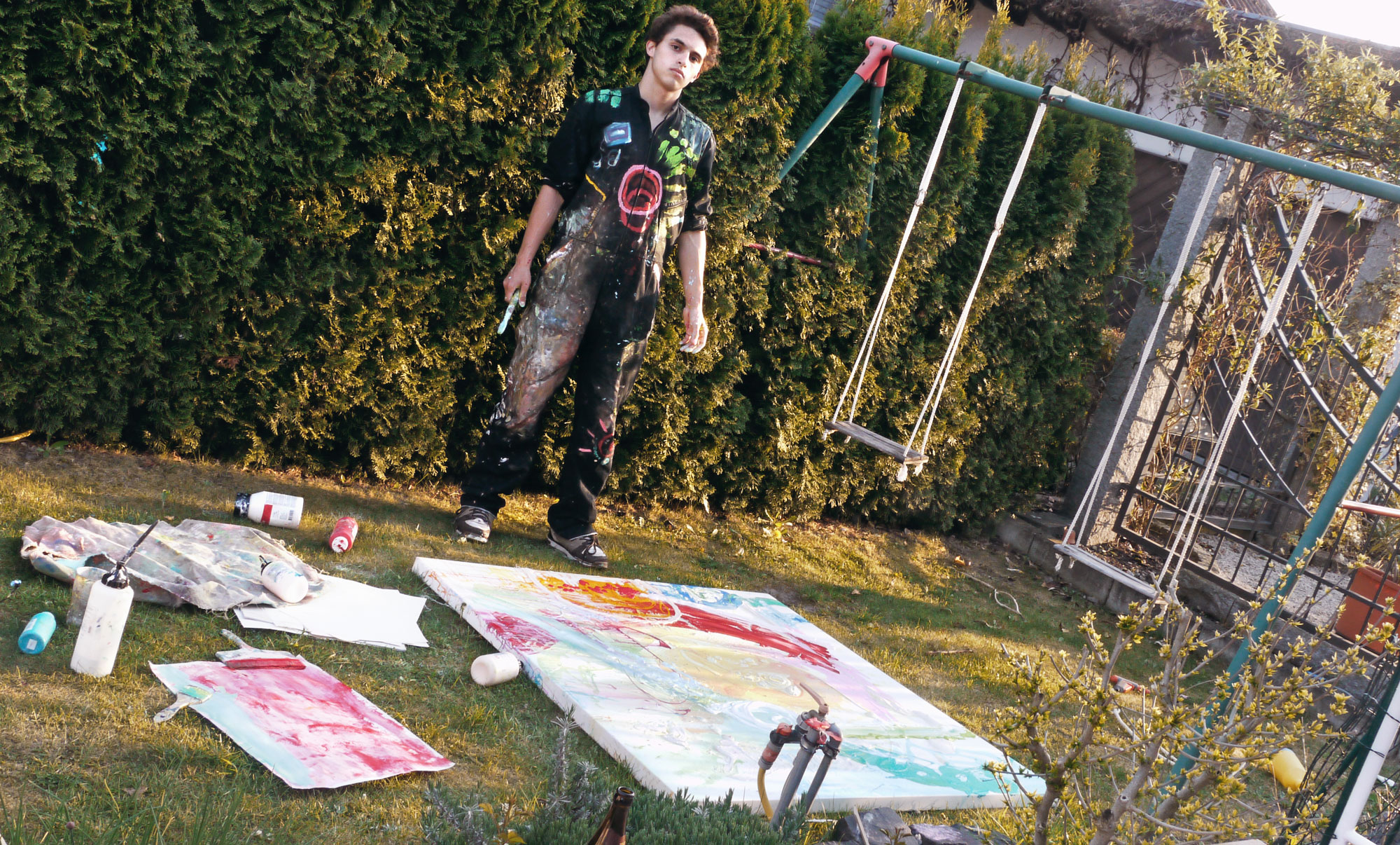 2009 - Painting abstract in the parents´ garden