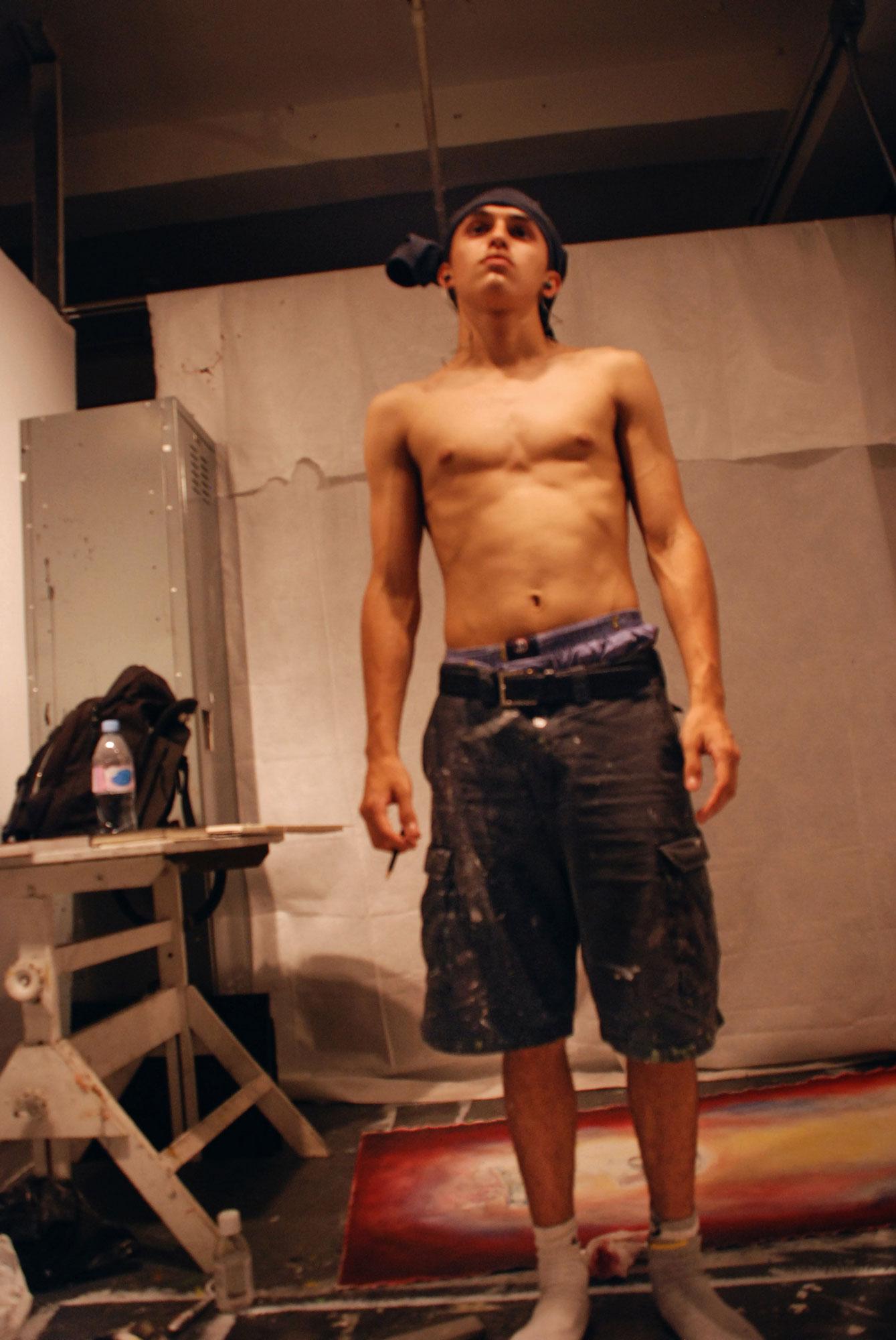 2009 - New York City - School of Visual Arts - late at the studio