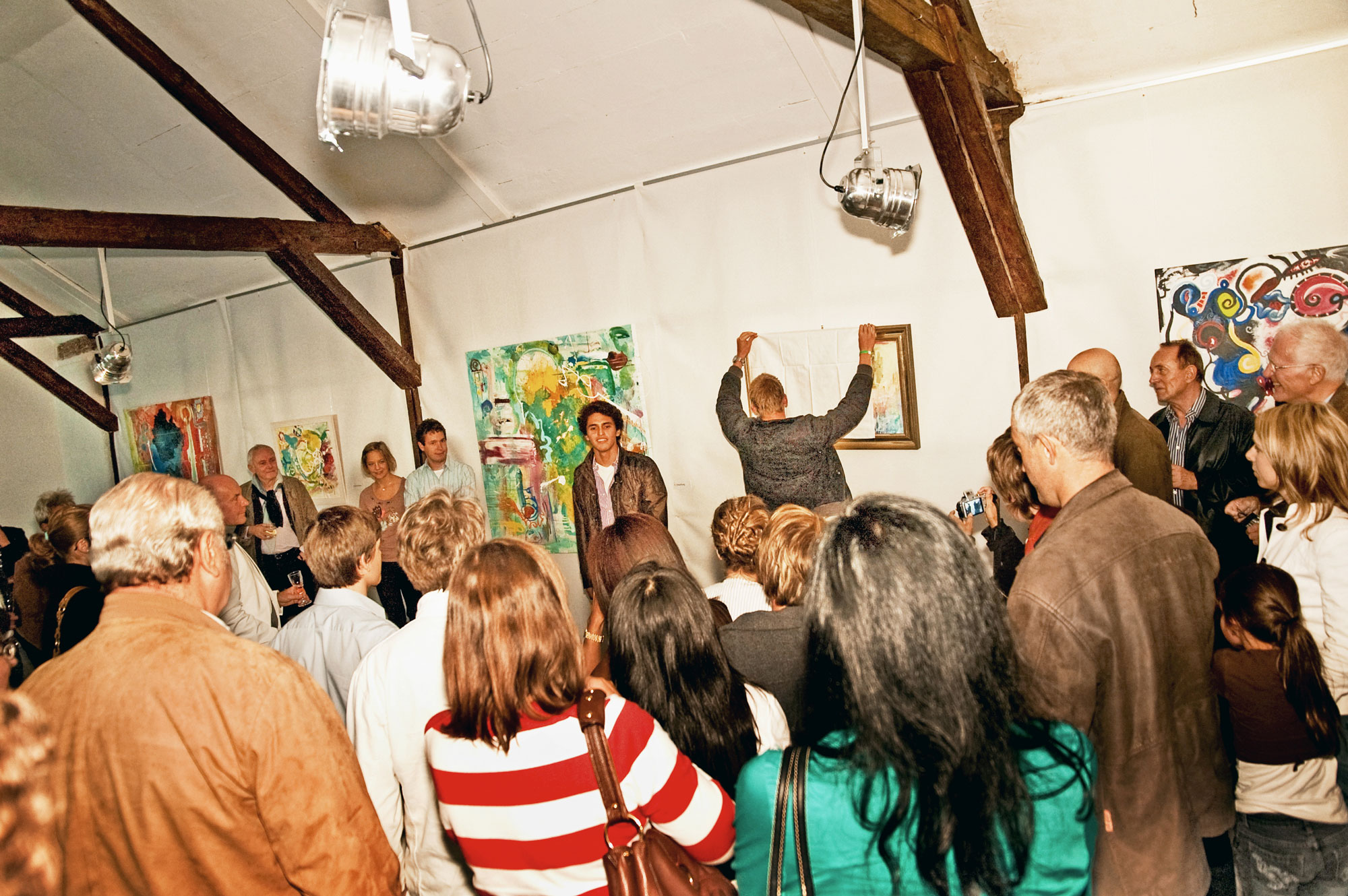 """2009 - First exhibition at the space of the familys´ hotel-restaurant """"Kelter"""", Esslingen"""